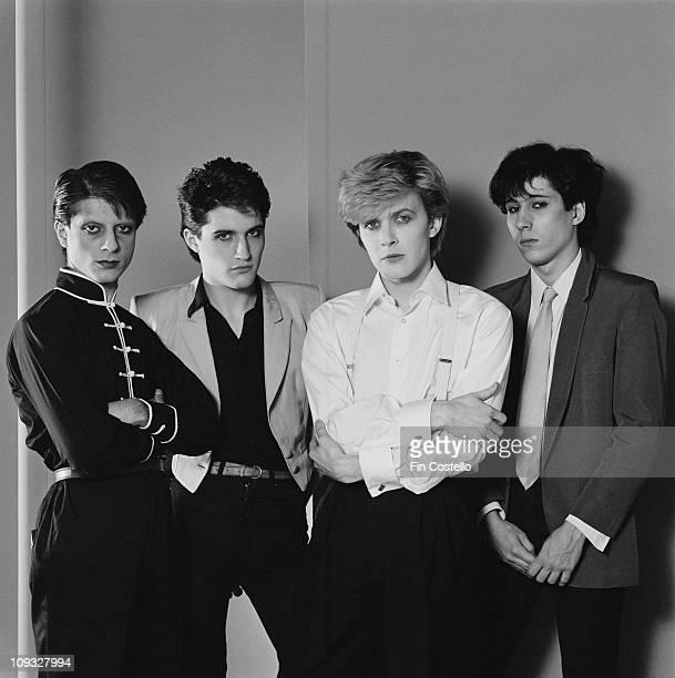 Mick Karn Steve Jansen David Sylvian and Richard Barbieri of Japan in London England in November 1981