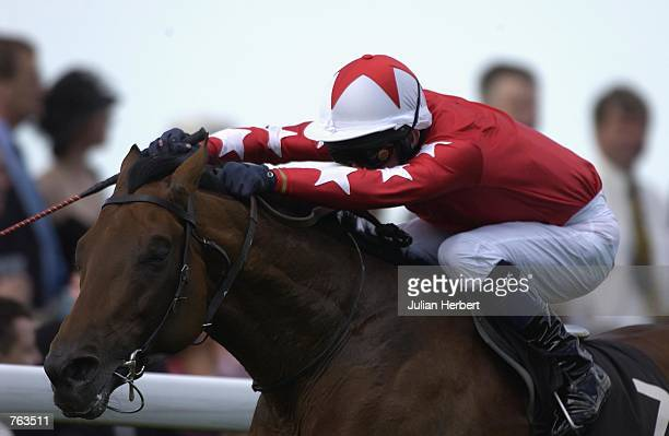 Mick Kinane and Rock Of Gibraltar come through to land The St James Palace Stakes run at Ascot Racecourse in Ascot during the 1st day of The Royal...
