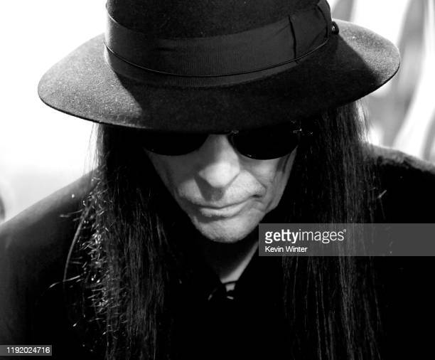 Mick Mars appears onstage at a press conference with Mötley Crüe Def Leppard and Poison announcing their 2020 Stadium Tour on December 04 2019 in...