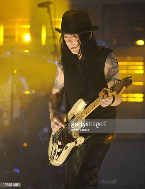 *EXCLUSIVE* Mick Mars of Motley Crue performs at The Late Show with David Letterman to promote their new album Saints of Los Angeles and to kick off...