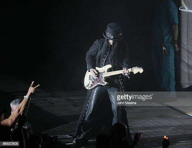 Mick Mars of Motley Crue performs during Crue Fest 2 at Shoreline Amphitheatre on July 30 2009 in Mountain View California