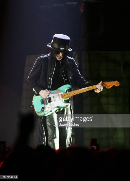 Mick Mars of Motley Crue performs during Crue Fest 2 at the Sprint Center on August 9 2009 in Kansas City Missouri