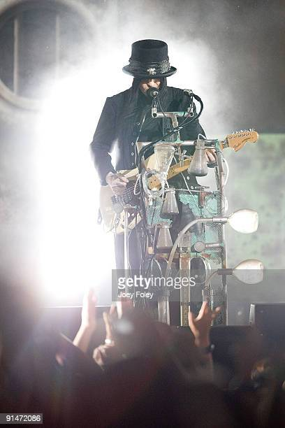 Mick Mars of Motley Crue performs during Crue Fest 2 at the Verizon Wireless Music Center on August 12 2009 in Noblesville Indiana