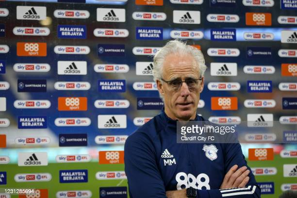 Mick McCarthy, Manager of Cardiff City after the Sky Bet Championship match between Cardiff City and Preston North End at Cardiff City Stadium on...