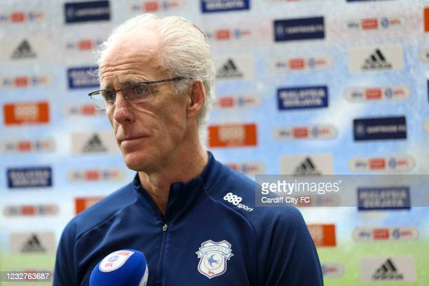 Mick McCarthy, Manager of Cardiff City after the Sky Bet Championship match between Cardiff City and Rotherham United at Cardiff City Stadium on May...