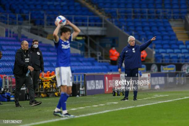 Mick McCarthy, Manager of Cardiff City during the Sky Bet Championship match between Cardiff City and Preston North End at Cardiff City Stadium on...