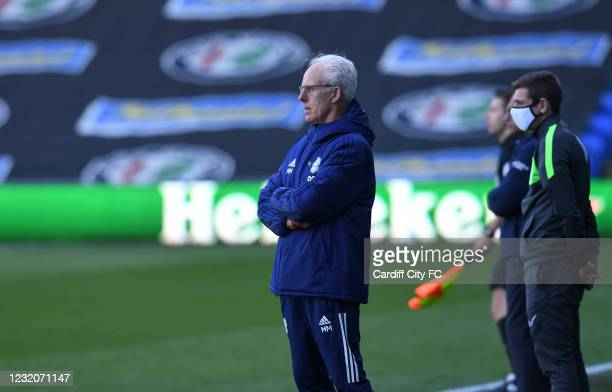 Mick McCarthy, Manager of Cardiff City during the Sky Bet Championship match between Cardiff City and Nottingham Forest at Cardiff City Stadium on...