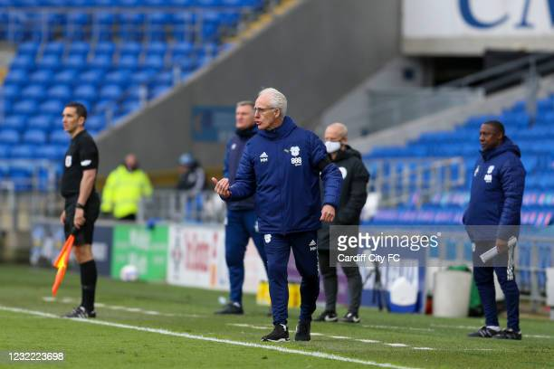 Mick McCarthy, Manager of Cardiff City during the Sky Bet Championship match between Cardiff City and Blackburn Rovers at Cardiff City Stadium on...