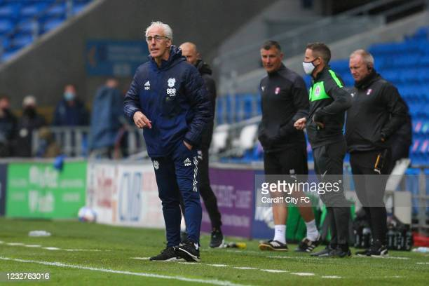 Mick McCarthy, Manager of Cardiff City during the Sky Bet Championship match between Cardiff City and Rotherham United at Cardiff City Stadium on May...