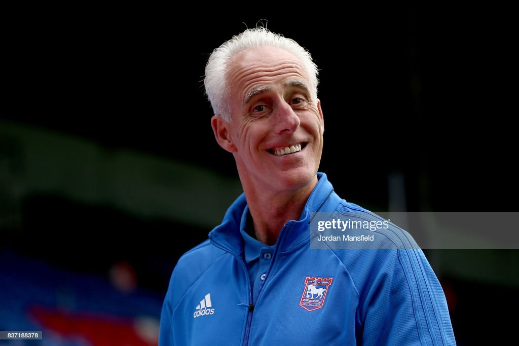 Mick McCarthy, manager of Ipswich arrives at the stadium prior to the Carabao Cup Second Round match between Crystal Palace and Ipswich Town at Selhurst Park on August 22, 2017 in London, England.
