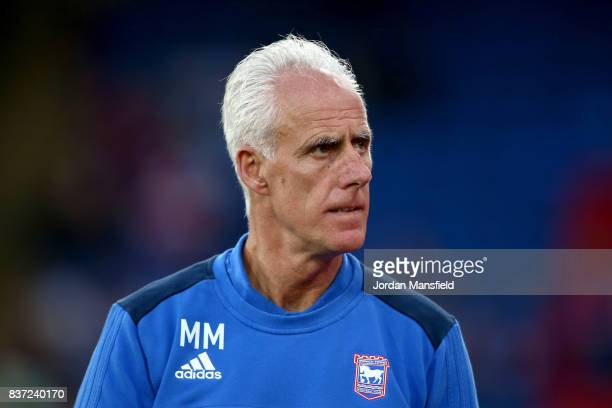 Mick McCarthy manager of Ipswich looks on prior to the Carabao Cup Second Round match between Crystal Palace and Ipswich Town at Selhurst Park on...