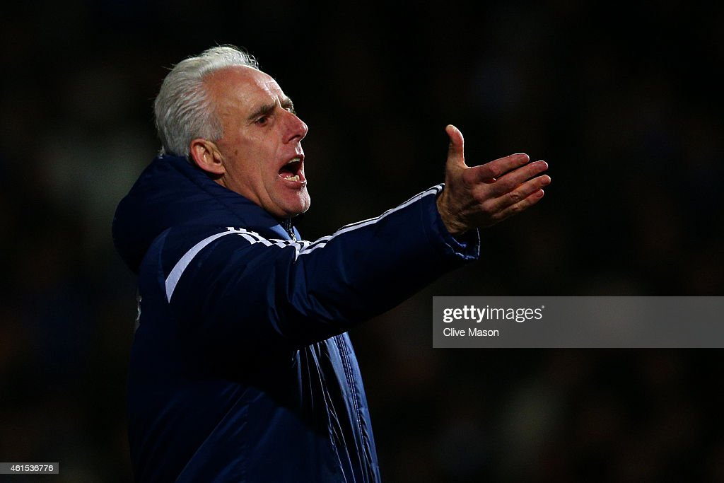 Mick McCarthy, manager of Ipswich reacts during the FA Cup third round replay match between Ipswich Town and Southampton at Portman Road on January 14, 2015 in Ipswich, England.