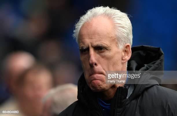 Mick McCarthy Manager of Ipswich Town during the Sky Bet Championship match between Cardiff City and Ipswich Town at the Cardiff City Stadium on...