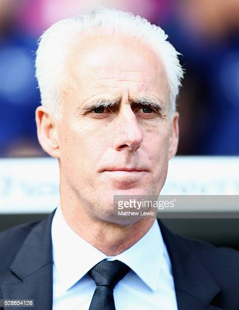 Mick McCarthy manager of Ipswich Town loks on during the Sky Bet Championship match between Derby County and Ipswich Town at the iPro Stadium on May...