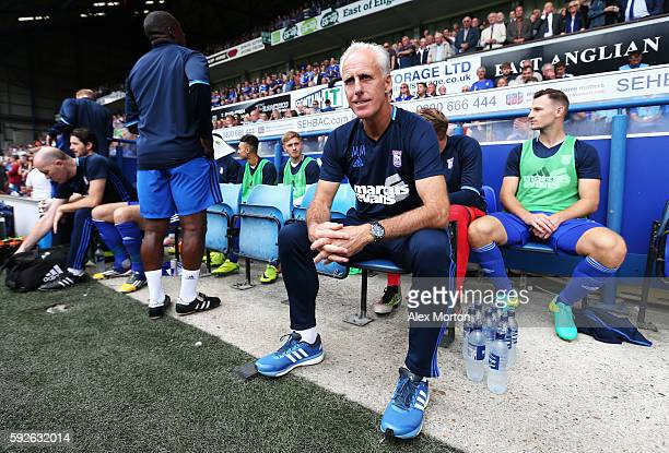 Mick McCarthy Manager of Ipswich Town looks on during the Sky Bet Championship match between Ipswich Town and Norwich City at Portman Road on August...