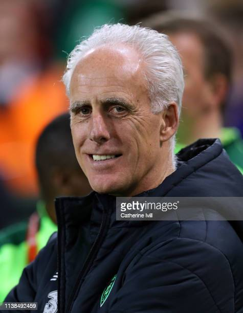 Mick McCarthy manager of Republic of Ireland ahead of the 2020 UEFA European Championships group D qualifying match between Republic of Ireland and...