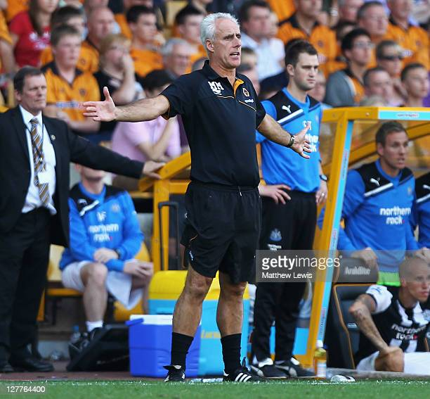 Mick McCarthy manager of Wolverhampton Wanderers looks on during the Barclays Premier League match between Wolverhampton Wanderers and Newcastle...