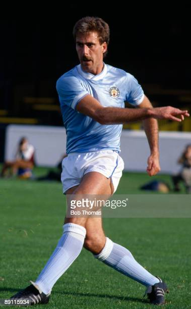 Mick McCarthy of Manchester City during the Watford v Manchester City Division 1 match played at Vicarage Road in Watford on the 12th October 1985