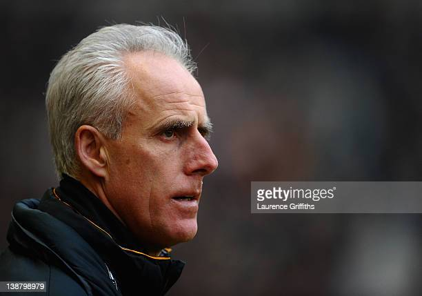 Mick McCarthy of Wolverhampton Wanderers looks on in dismay during the Barclays Premier League match between Wolverhapton Wanderers and West Bromwich...
