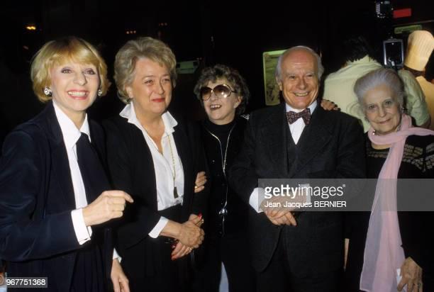 Mick Micheyl Annie Cordy et Jacqueline Maillan lors d'une soirée à Paris le 31 janvier 1984 France