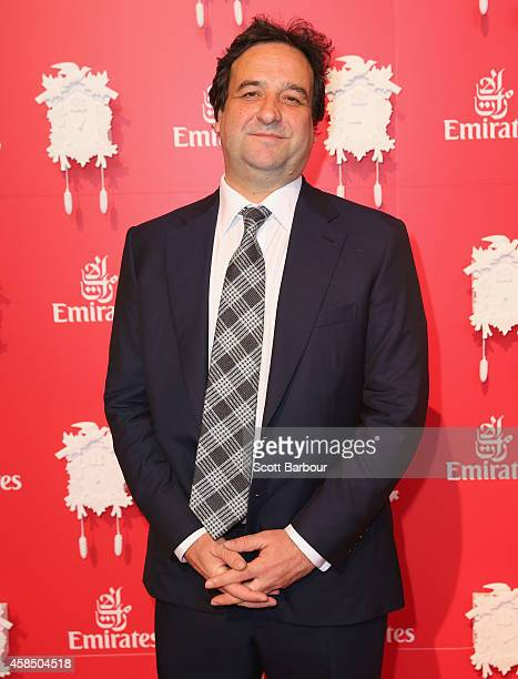 Mick Molloy attends the Emirates Marquee on Oaks Day at Flemington Racecourse on November 6 2014 in Melbourne Australia
