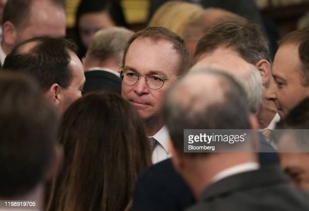 Mick Mulvaney acting White House chief of staff arrives for an event with US President Donald Trump at the White House in Washington DC US on...