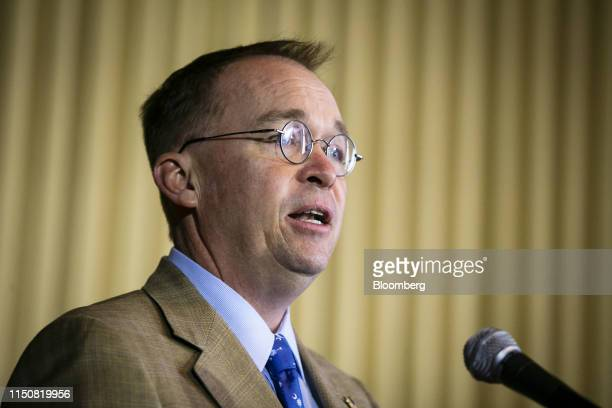 Mick Mulvaney, acting White House chief of staff, speaks at Environmental Protection Agency headquarters in Washington, D.C., U.S., on Wednesday,...