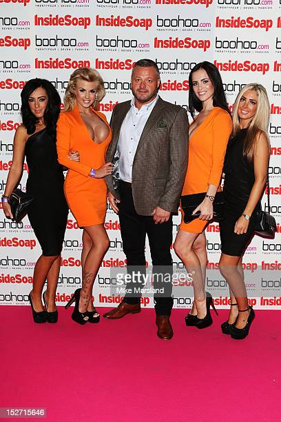 Mick Norcross and The SugarHut Honeys attend the Inside Soap Awards at One Marylebone on September 24 2012 in London England