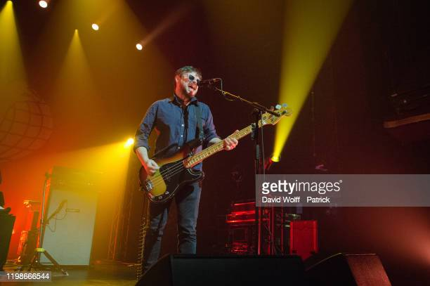 Mick Quinn from Supergrass performs at Casino de Paris on February 4, 2020 in Paris, France.