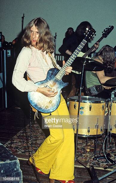 Mick Ralphs of Mott The Hoople performs on stage at Birmingham Town Hall on December 26 1970. He plays a Gibson Les Paul Junior guitar.