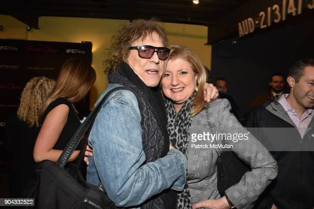 Mick Rock and Arianna Huffington attend The Cinema Society Bluemercury host the premiere of IFC Films' 'Freak Show' at Landmark Sunshine Cinema on...