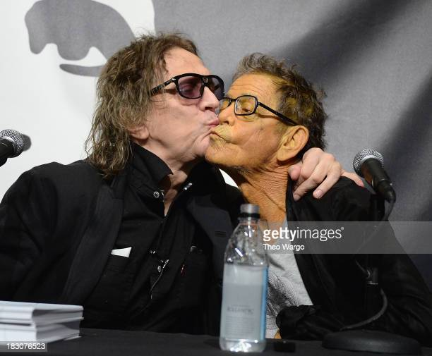 Mick Rock and Lou Reed attend John Varvatos Presents Transformer By Lou Reed And Mick Rock on October 3 2013 in New York City