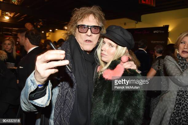 Mick Rock and Theodora Richards attend The Cinema Society Bluemercury host the premiere of IFC Films' 'Freak Show' at Landmark Sunshine Cinema on...