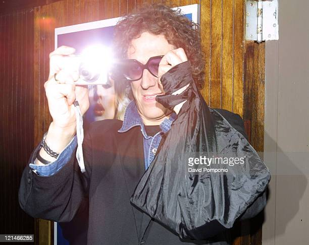 """Mick Rock during """"Picture This: Debbie Harry and Blondie"""" by Mick Rock Book Launch Party - Arrivals at Hiro Ballroom in The Maritime Hotel in New..."""