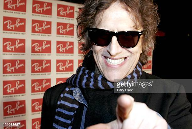 Mick Rock during RayBan Wayfarer Uncut Sessions Inside Arrivals and Show at Electric Ballroom in London Great Britain