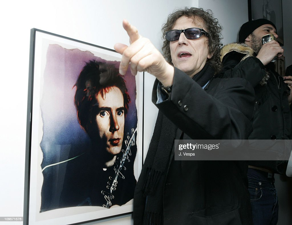Mick Rock with his portrait of John Lydon during DKNY Jeans Presents 'Mick Rock Live in L.A.' Exhibit at the Lo-Fi Gallery at Lo-Fi in Los Angeles, California, United States.
