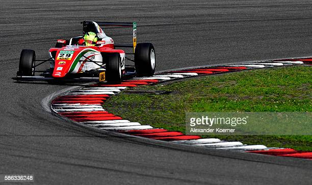 Mick Schumacher 17 yearold and son of former Formula 1 driver Michael Schumacher is seen on track during qualifying of Formula 4 ADAC GT Masters at...