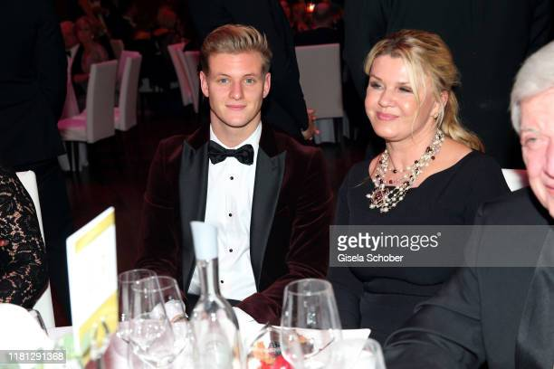 Mick Schumacher and his mother Corinna Schumacher during the German Sports Media Ball at Alte Oper on November 9 2019 in Frankfurt am Main Germany