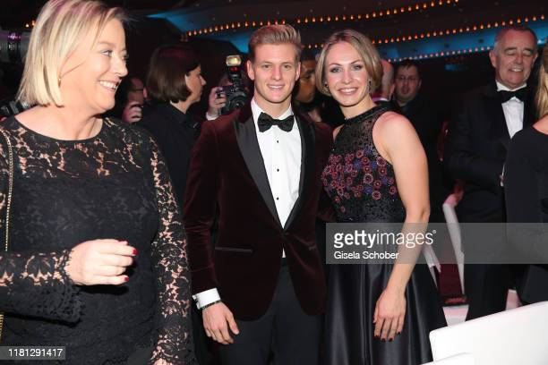 Mick Schumacher and Magdalena Neuner during the German Sports Media Ball at Alte Oper on November 9 2019 in Frankfurt am Main Germany