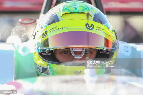 Mick Schumacher looks on after race 1 of the final race of the Formula 3 Championship at Hockenheimring on October 13 2018 in Hockenheim Germany
