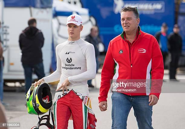 Mick Schumacher looks on prior to the third race of ADAC Formula 4 at Hockenheimring on October 2 2016 in Hockenheim Germany
