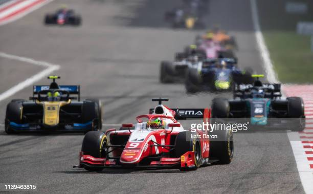 Mick Schumacher of Germany and Prema Racing drives during the sprint race of the F2 Grand Prix of Bahrain at Bahrain International Circuit on March...