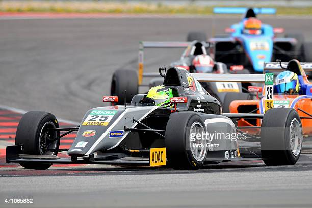 Mick Schumacher of Germany and Van Amersfoort Racing drives during the ADAC Formula 4 race one at Motorsport Arena Oschersleben on April 25 2015 in...