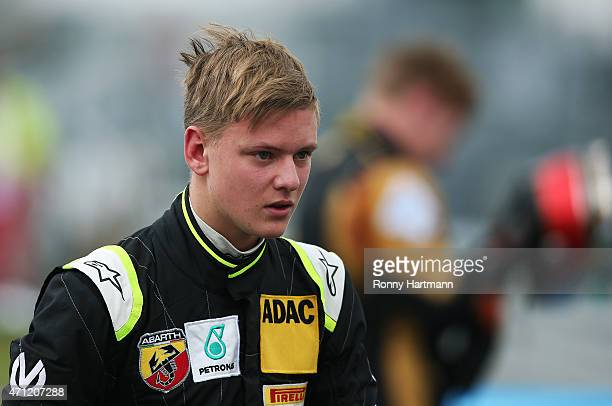 Mick Schumacher of Germany and Van Amersfoort Racing is pictured after the ADAC Formula 4 race two at Motorsport Arena Oschersleben on April 26 2015...