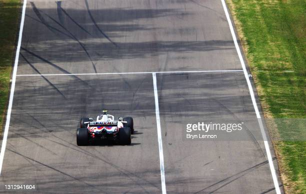 Mick Schumacher of Germany driving the Haas F1 Team VF-21 Ferrari on track during final practice ahead of the F1 Grand Prix of Emilia Romagna at...