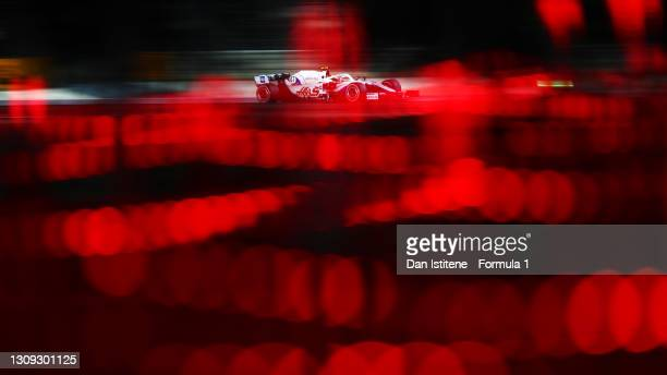 Mick Schumacher of Germany driving the Haas F1 Team VF-21 Ferrari during practice ahead of the F1 Grand Prix of Bahrain at Bahrain International...