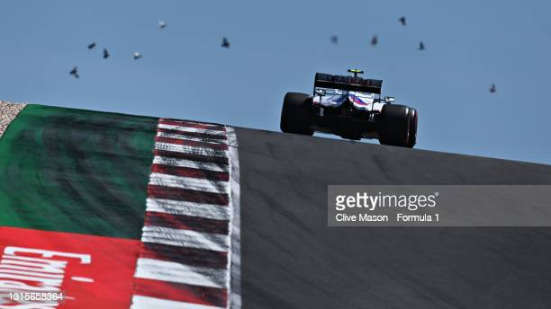 Mick Schumacher of Germany driving the Haas F1 Team VF-21 Ferrari during qualifying for the F1 Grand Prix of Portugal at Autodromo Internacional Do...