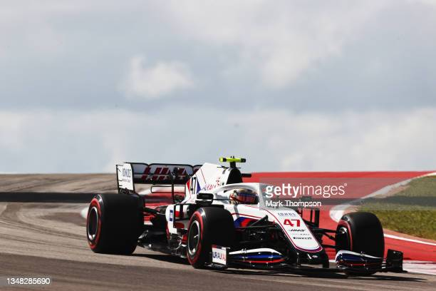 Mick Schumacher of Germany driving the Haas F1 Team VF-21 Ferrari during final practice ahead of the F1 Grand Prix of USA at Circuit of The Americas...