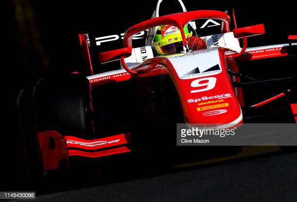 Mick Schumacher of Germany driving the Prema Racing during qualifying for the F2 Grand Prix of Bahrain at Baku City Circuit on April 26 2019 in Baku...