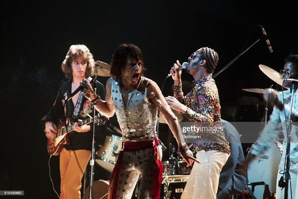 Mick jagger and stevie wonder singing pictures getty images mick taylor l and mick jagger c of the rolling stones perform workwithnaturefo